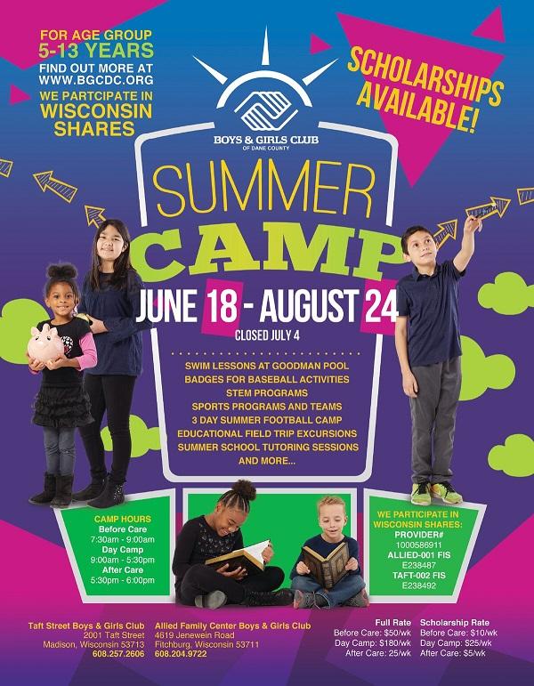 Summer Camp Flyer Revised | Boys & Girls Club of Dane County